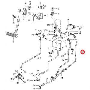 104448C2U Tube, LH Front Brake