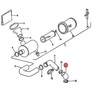 104598C1U Hose, Air Intake Manifold