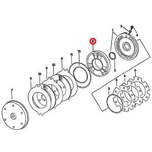 104656C1 Piston, Brake
