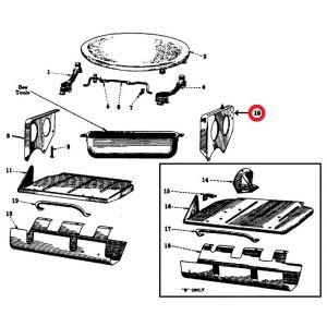 350007R1U Seat Support Bracket, LH A/B