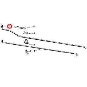 353116R1U Control Rod, with Bend