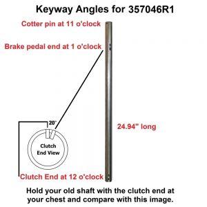357046R1 Clutch & Brake Pedal Shaft, Disc