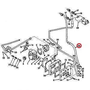 396874R1U Hose Assy, Hyd Pump Pressure