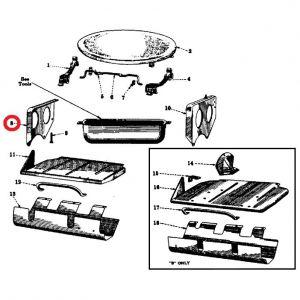 51182DU Seat Support Bracket, RH A/B