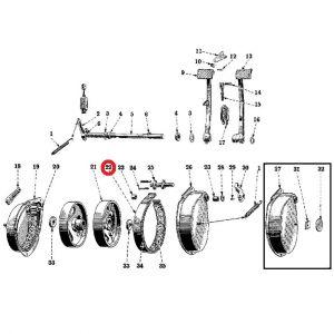 58344DCXU Brake Band, H