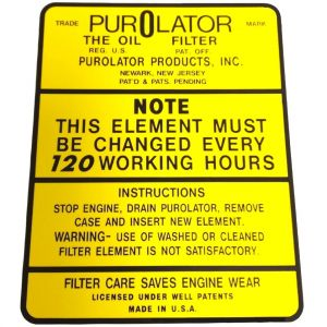 8000222 Decal, Purolator