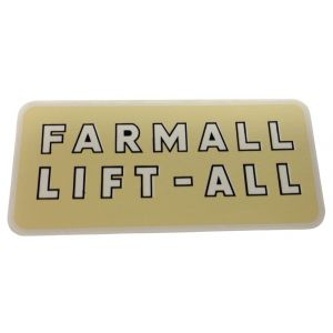 8000225 Decal, Farmall Lift-All