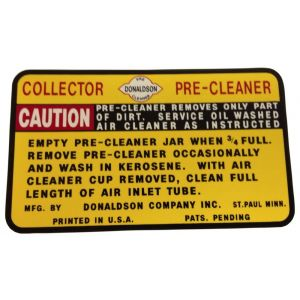 8000226 Decal, Precleaner