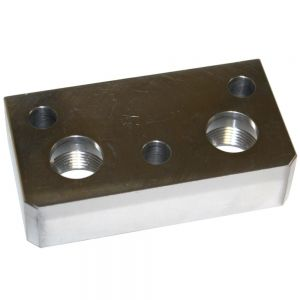 IHS1237 Port Block, Hyd Pump Flange