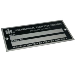 IHS1589 Blank Serial Number Tag