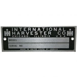 IHS1595 Serial Number Plate, Blank