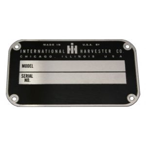 IHS2087 Serial Number Tag