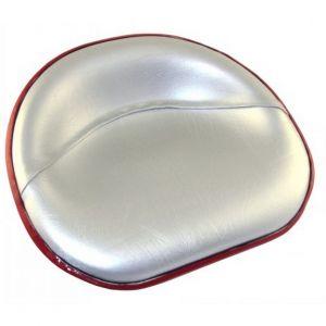 R6177 Pan Seat, Rail Mount Silver Vinyl