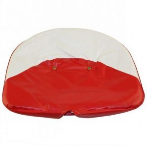 PC103 Seat Cover, Red & White Tie On