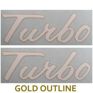 VI258 Decals, Turbo Set white/gold Vinyl
