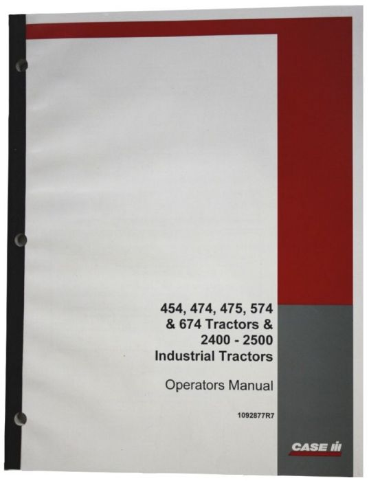 International 454//474//574//674 Tractor Operators Manual
