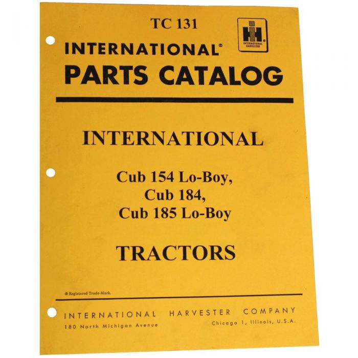 international cub 154 lo-boy parts